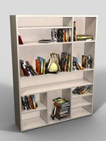 Bookcase in white