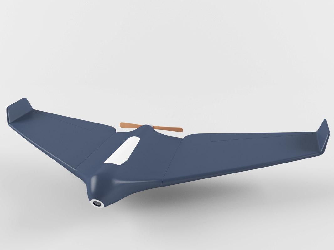 3D drone plane