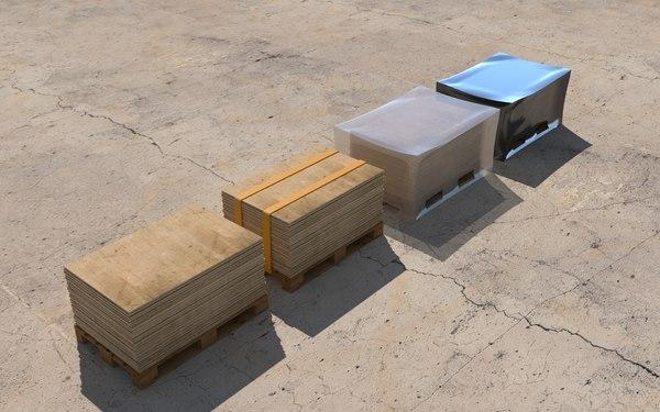 wood boards 3D model