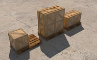 Cargobox (Crate) and pallet