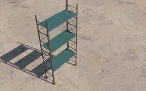 modular industrial rack 3D model
