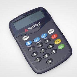 online card reader 3D model