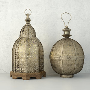 3D lanterns zara home model