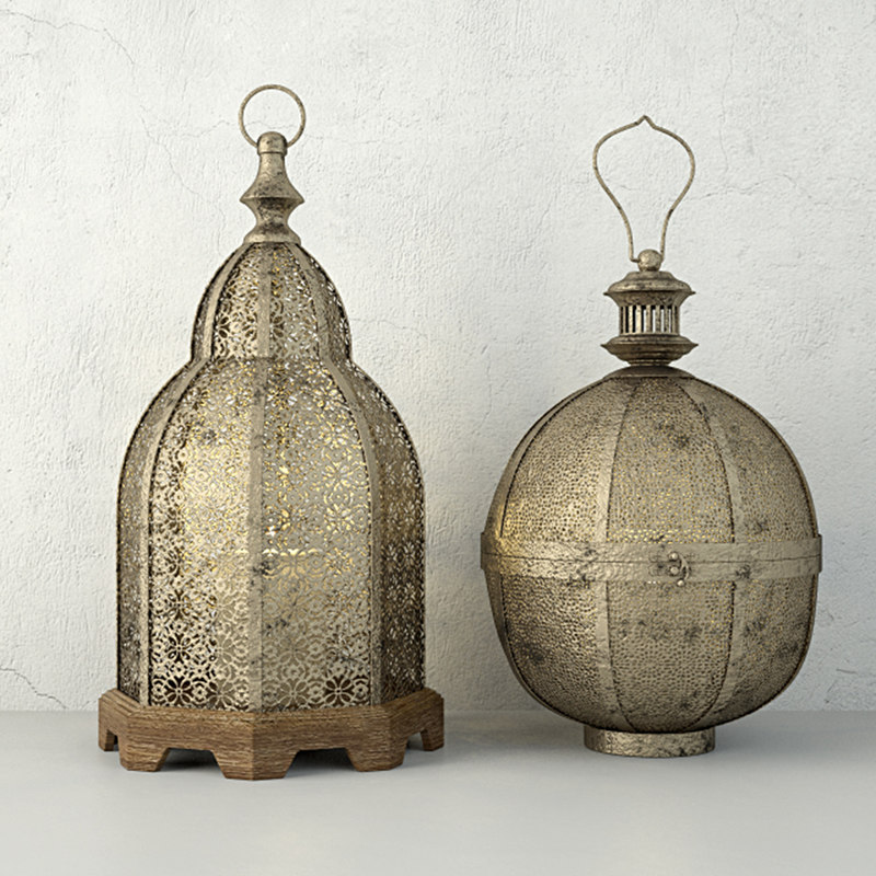 3D lanterns zara home model