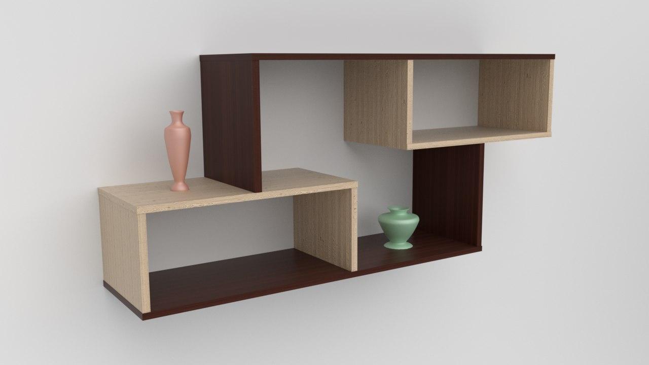 3D model wall shelf