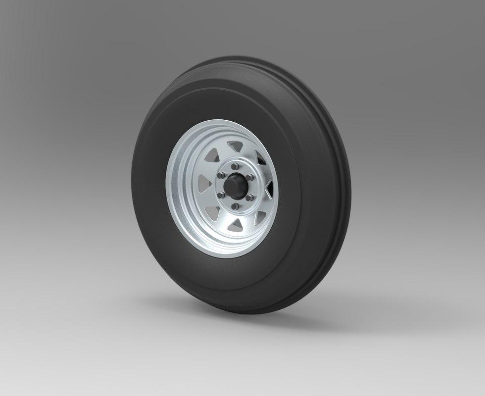 3D wheel dune buggy model