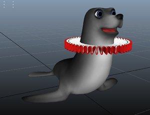 seal sea 3D model