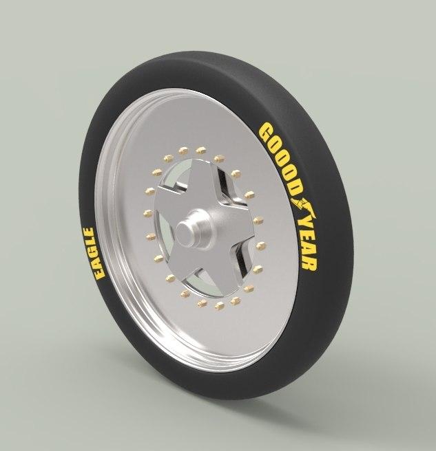 wheel dragster 3D