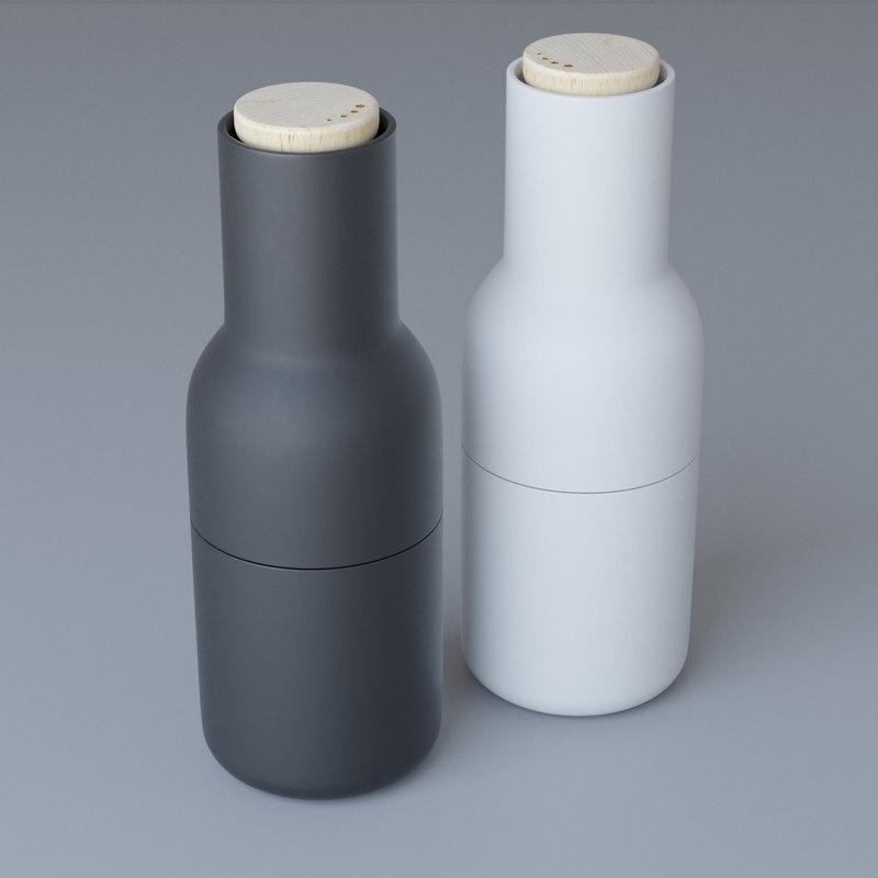 free menu bottle grinders 3d model turbosquid 1223146. Black Bedroom Furniture Sets. Home Design Ideas