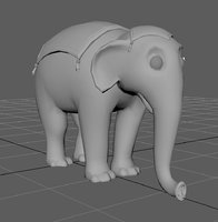 3D elephant animation circus model