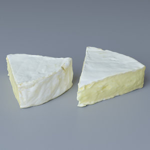 piece brie cheese 3D model