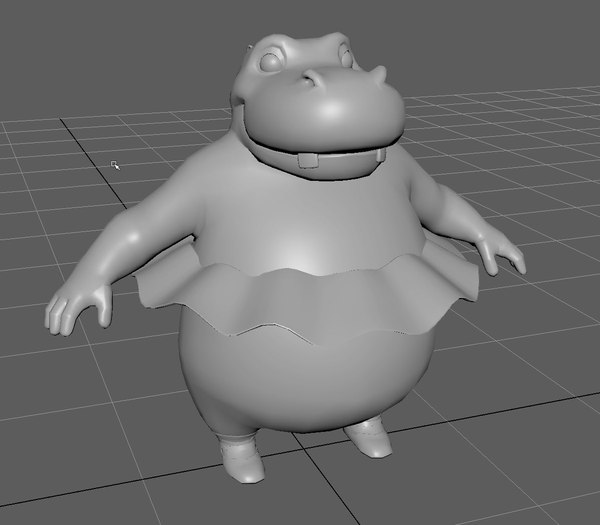 3D hippo dancer rope model