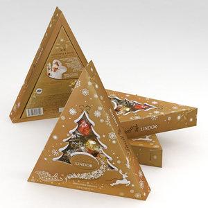 3D model lindt lindor christmas assorted