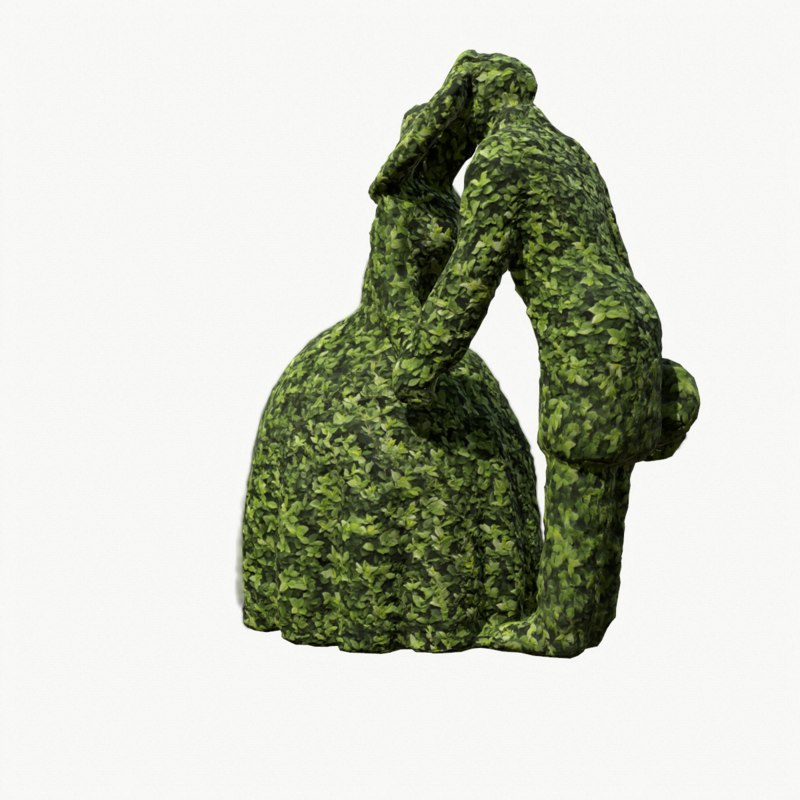 3D character topiary model
