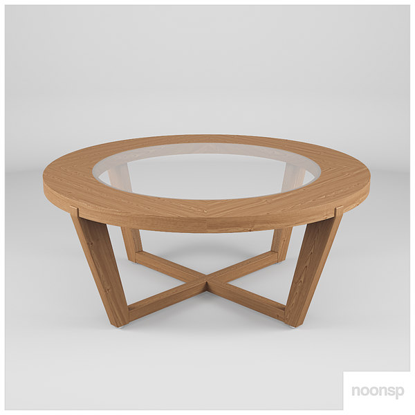 table interior wood 3D model