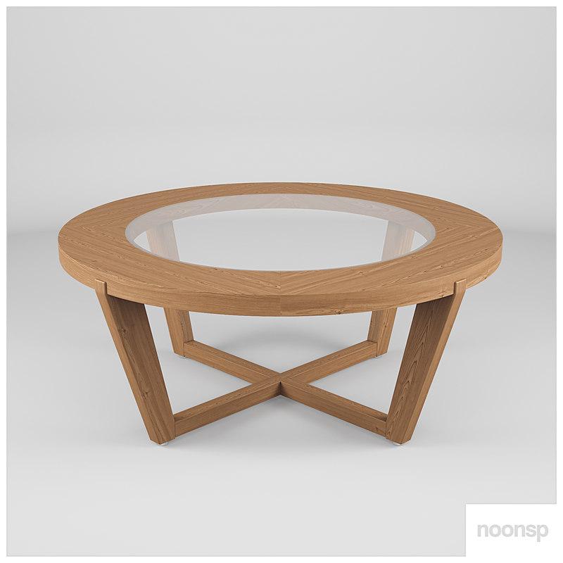 table interior wood 3D model