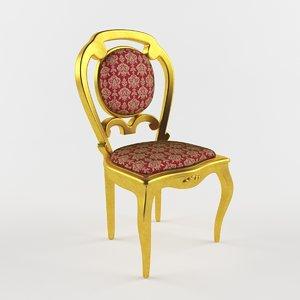 3D model classic chair luis xv