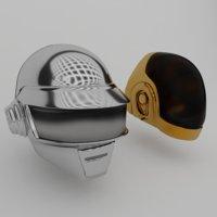 helmet daft punk 3D model