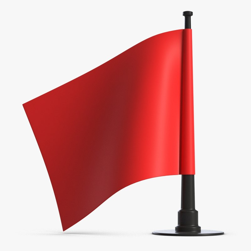 small table flag 3D