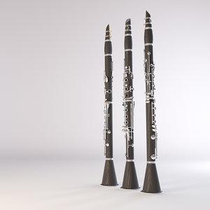 clarinet 3D model