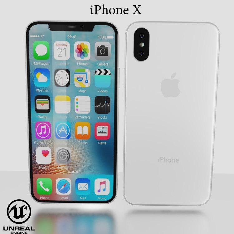 3D model ue4 apple iphone x
