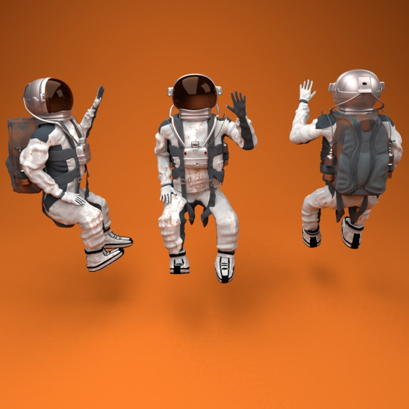 3D astronaut rig