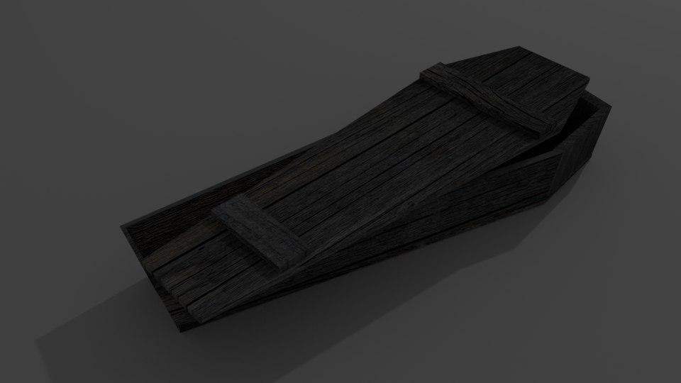old coffin 3D model