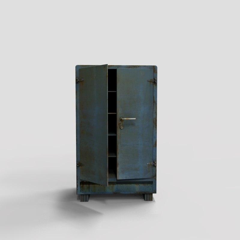 3D model metal cabinet
