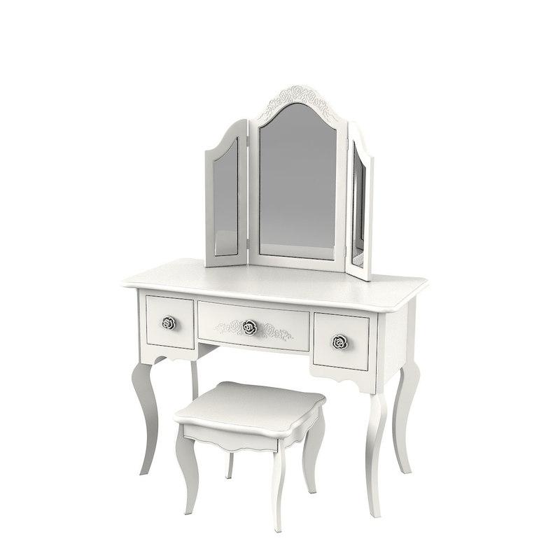 versailles bone white vanity 3D