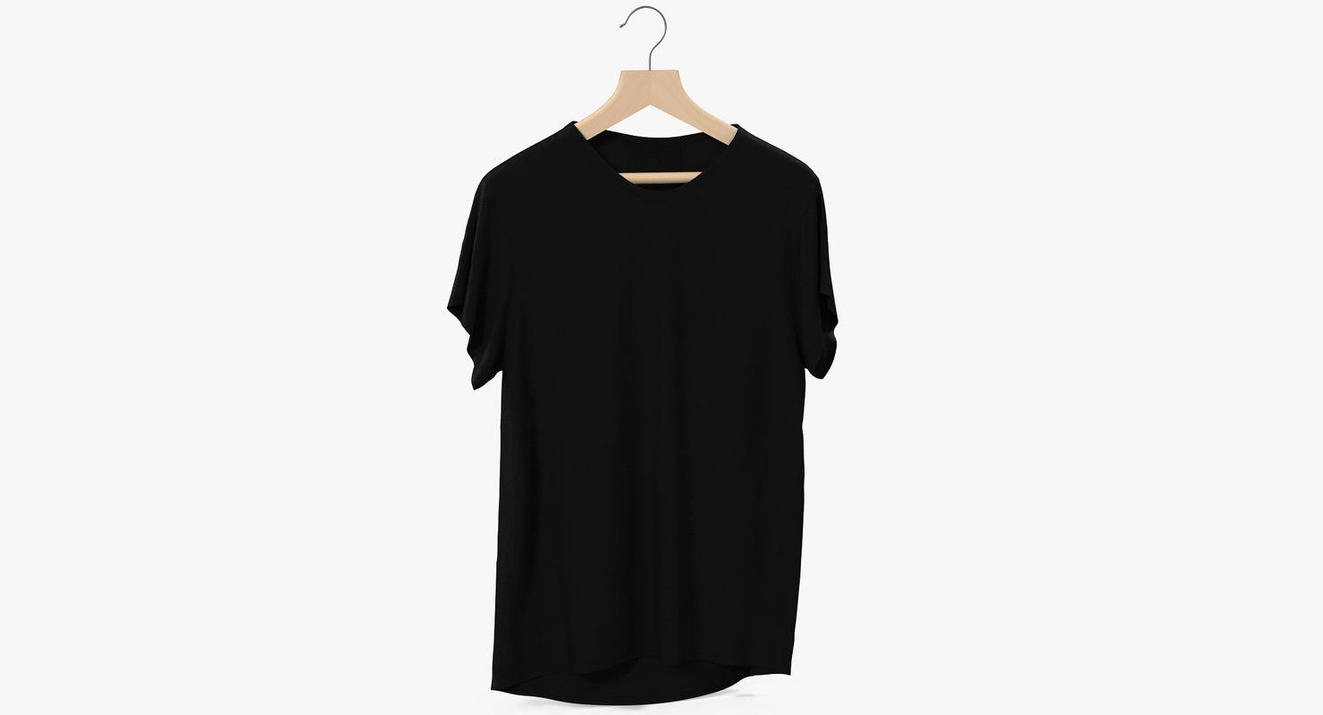 3D model t-shirt black
