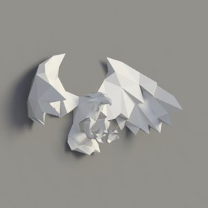 eagle wall art 3D model