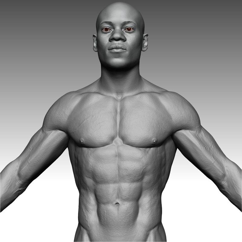 afro man realistics 3D