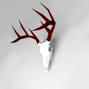 deer skull 3D model