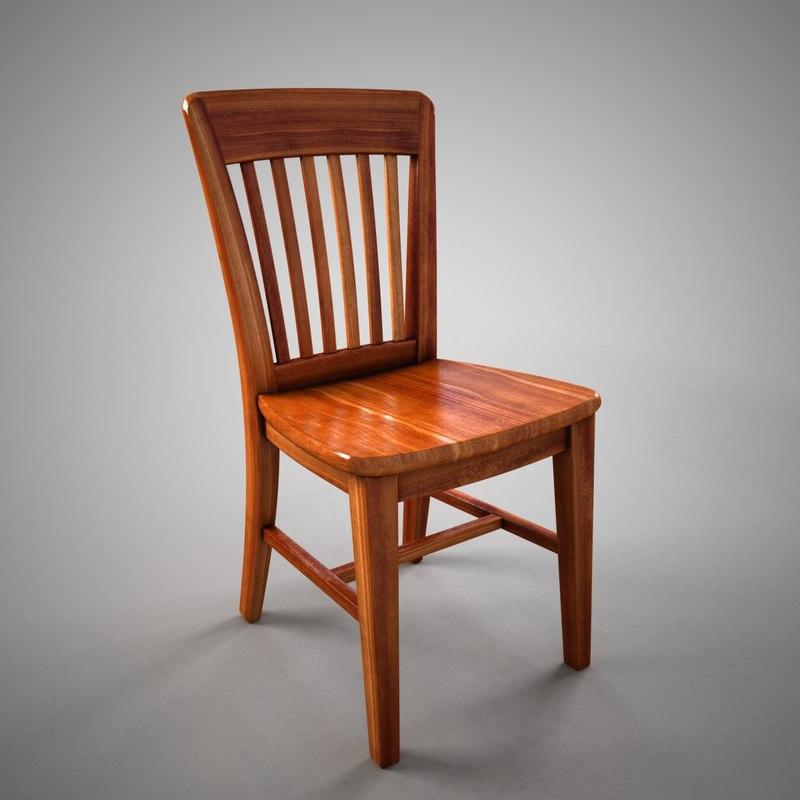 antique stool 3D model