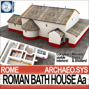 ancient roman bath house 3D model