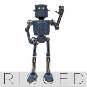 rigged pbr metallic model