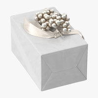 3D model wrapped christmas gift 01