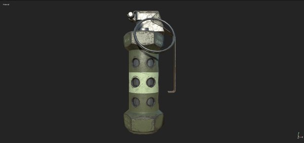 m-84 stun grenade 3D model