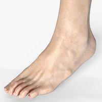 3D male foot model