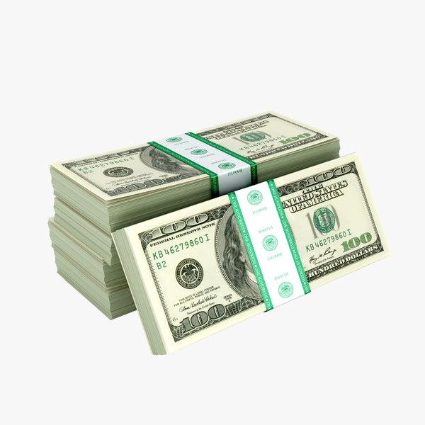 packs dollars 3D