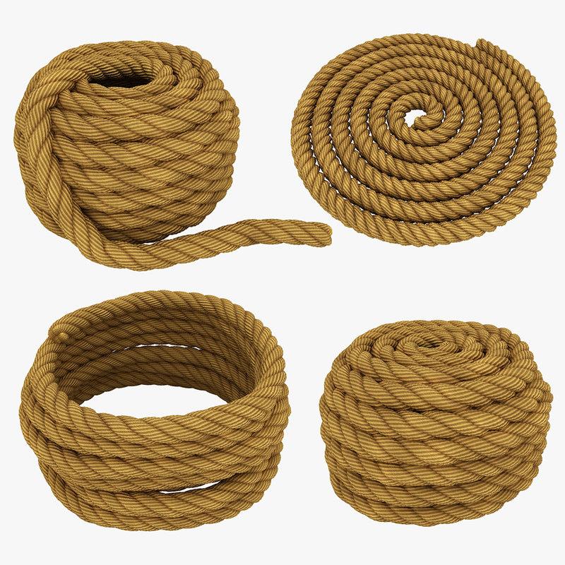 3D model rope set