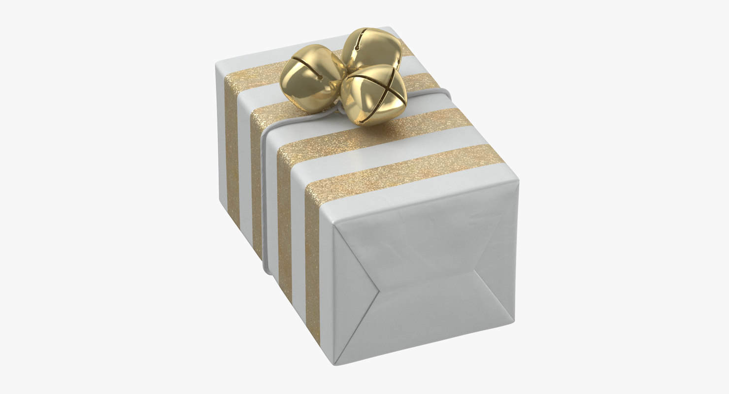 wrapped christmas gift 07 3D model