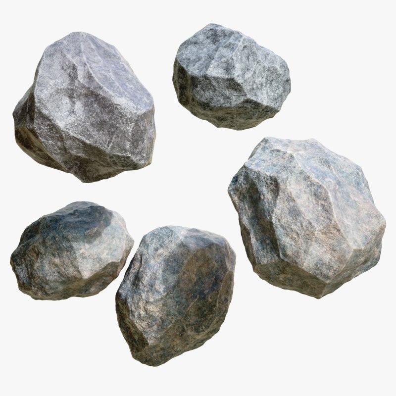 4k stone 3D model