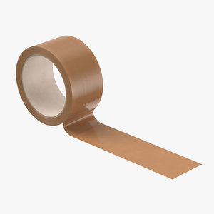 3D packing tape brown 01 model