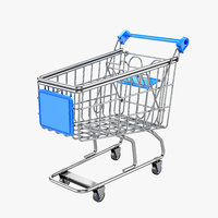 3D supermarket trolley