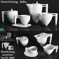 heinrich wang tea set 3D model
