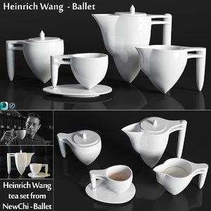 heinrich wang tea set 3D model