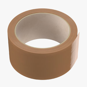 3D model packing tape brown 02