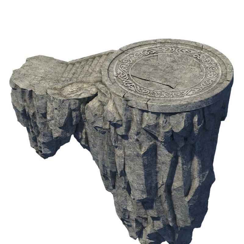 3D stone rocks mountains model