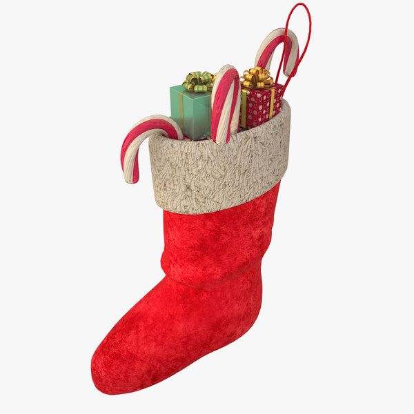 christmas stocking presents 3D model
